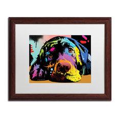 """Dean Russo 'Lying Lab' Framed Art, Wood Frame, 16""""x20"""", White Matte"""