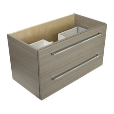 Cutler Kitchen and Bath - Aria 36'' Modern Wall Hung Vanity 2 Drawers With Top by Cutler - Bathroom Vanities and Sink Consoles