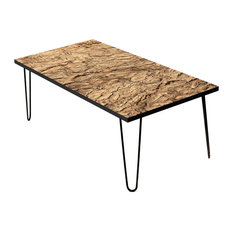 "Topo Bark 24"" Coffee Table"