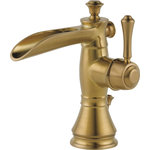 Delta - Delta Cassidy Single Handle Channel Faucet, Champagne Bronze, 598LF-CZMPU - Designed to look like new for life, Brilliance finishes are developed using a proprietary process that creates a durable, long-lasting finish that is guaranteed not to corrode, tarnish or discolor. You can install with confidence, knowing that Delta faucets are backed by our Lifetime Limited Warranty. Delta WaterSense labeled faucets, showers and toilets use at least 20% less water than the industry standard saving you money without compromising performance.
