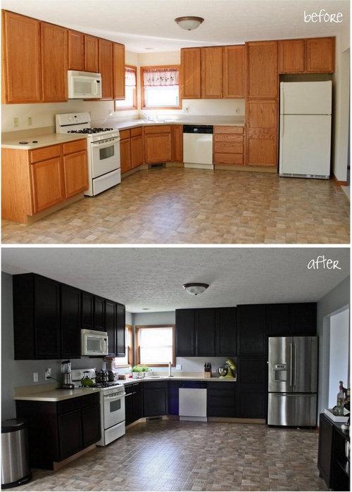 Gel Stain Kitchen Cabinet Makeover