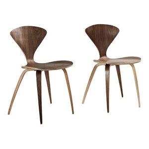 Vortex Dining Chairs, Dark Walnut, Set of 2
