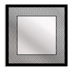 Gallery Direct Bold Geometry Art Mirror, Square - 18x18