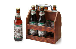 Wooden Six-Pack Beer Tote