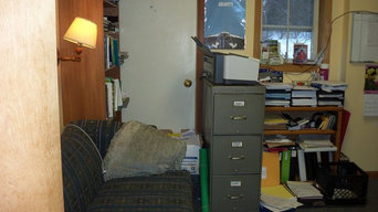 Office makeover, before and afters