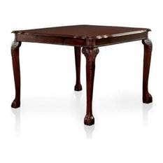 Petersburg Traditional Style Cherry Finish Counter Height 9 Piece Dining Table