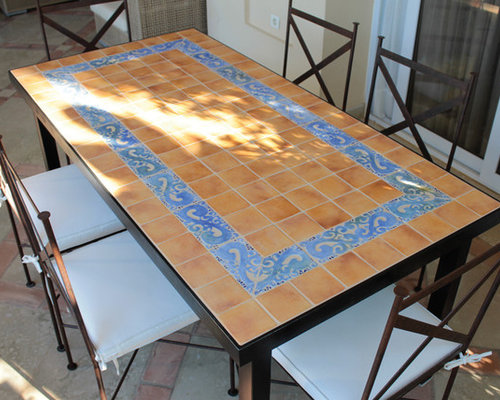 MOSAIC TABLE   HIEDRA OCRE   Outdoor Dining Tables