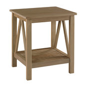 Linon Titian Wood End Table in Driftwood