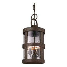 Barbosa, Outdoor Pendant, Incandescent, Barbosa Bronze Finish, Clear Glass