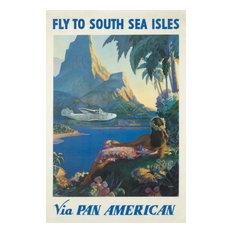 """Pan American, South Sea Isles Vintage Poster USA 1938"" Print, 24""x36"""
