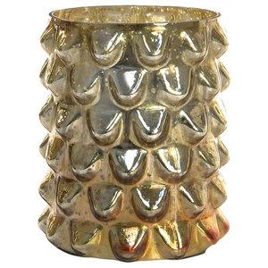 Beadnell Gold Glass Vase