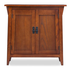 Leick Home - Mission Foyer Cabinet With Adjustable Shelf, Russet - Accent Chests and Cabinets