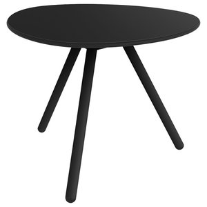 A-Lowha Side Table, Black, Black Frame