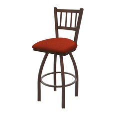 810 Contessa 30-inch Swivel Bar Stool With Bronze And Graph Poppy Seat