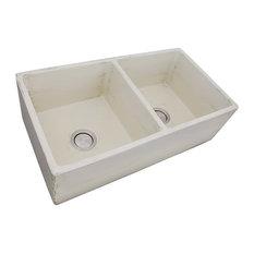 "Nantucket 33"" Double Bowl Sink, ShabbyStraw"