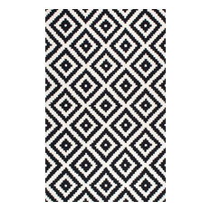 Hand-Tufted Tuscan Vs174 Rug, Black, 9'x12'