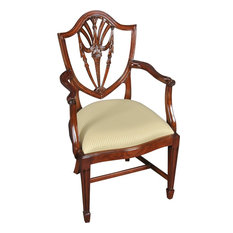 Arm Chair Reeded and Tapered Front Legs