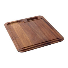 Franke KB-40S Iroko Solid Wood Cutting Board With Colander