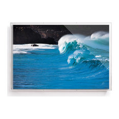 """Waimea Bay"" Ocean Wave Print by Bo Bridges Framed in a 24x36"" Acrylic Shadowbox"