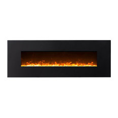 """GL5072CE Empire 72"""" Elegant Crystal Linear Wall Mounted Electric Fireplace"""
