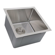 "Nantucket Sinks 15"" Pro Series Square Undermount Stainless Steel Bar/Prep Sink"