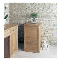 Bonsoni Mobel Oak Two Drawer Filing Cabinet