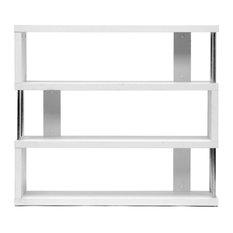 Baxton Studio - Baxton Studio Barnes White Three, Shelf Modern Bookcase - Bookcases