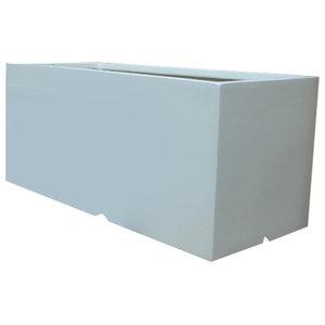 White Trough Fibrestone Planter, 80x35x35 cm