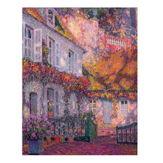 """Henri Le Sidaner A Mansion in the Afternoon, 21""""x28"""" Wall Decal"""