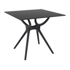 Compamia Air Square Dining Table, Black