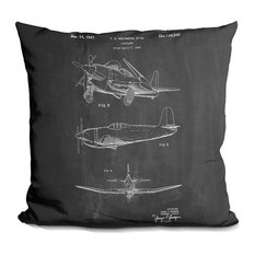 Airplane 1947 Decorative Accent Throw Pillow