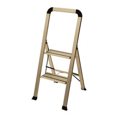 Ascent Products LLC - Designer Series Slim 2-Step Ladder Silver - Ladders and  sc 1 st  Houzz & Ladders and Step Stools | Houzz islam-shia.org