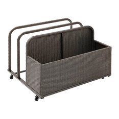Palm Harbor Outdoor Wicker Float Caddy, Gray