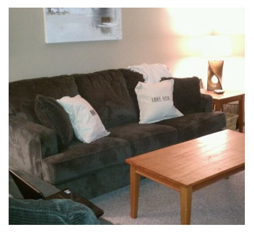 I Bought A Charcoal Gray Sofa And Love Seat But When I Brought It Home It  Looks Green!