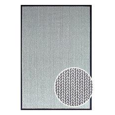 Sisal Wool Herringbone Kari and Cream Rug, 8'x10'