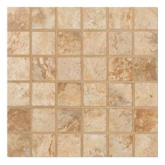 "12""x12"", Onyx Noche Brown Porcelain Mosaic Tile Bathroom Kitchen Backsplash"