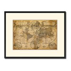 "World Vintage Antique Map Wall Art, 16""x21"""
