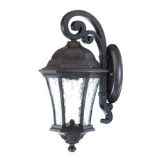 Waverly Collection Wall-Mount 1-Light Outdoor Light, Black Coral