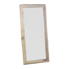 Haussmann Inc. - Haussmann Mirror Ne Recycled Teak Rectangle 22 In X 48 In H (16 X 41) Agate Grey - Floor Mirrors