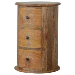 Slim Drum Chest of 3 Drawers
