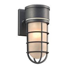 Cage 1-Light Outdoor Fixture, Bronze, A19 Bulb