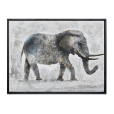 """MOTINI Hand Crafted Oil Painting Nature Animal Elephant Artwork Wall Art 30""""×40"""""""