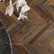 Antique French Oak Chevron Wood Floors