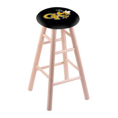 Maple Bar Stool Natural Finish With Georgia Tech Seat 30-inch