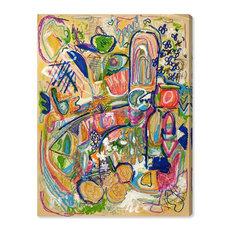 """""""Rosalina Lively City"""" Canvas Art Print, 80x60 cm"""