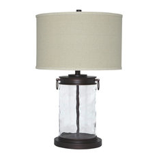 Ashley Furniture Homestore   Ashley Tailynn Glass Table Lamp, Clear And  Bronze Finish   Table