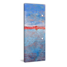 """Meet Me in the Sky"" Painting Print on Wrapped Canvas, 10""x30"""