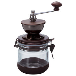 """Hario Ceramic """"Canister"""" Coffee Mill Manual Grinder"""
