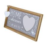Wooden Heart Freestanding Photograph Frame