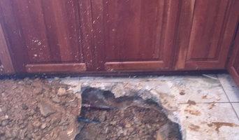 Copper Pinhole Repair in Kitchen Floor